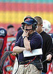 Head coach john rosenberg of the german first ision plattling black